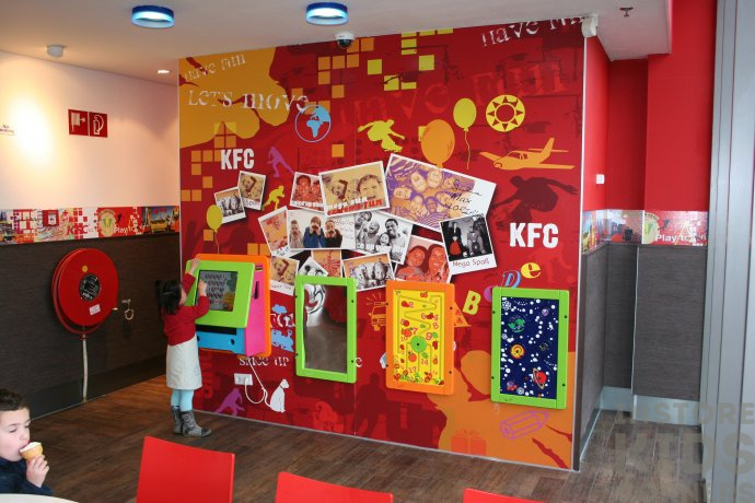 Kids play wall at KFC
